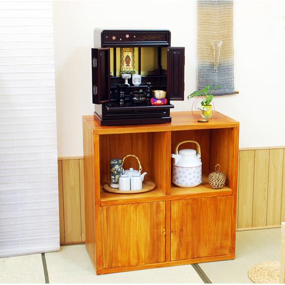 唐木仏壇 ミニ 桜 18号 仏具セット